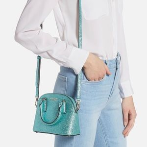 Kate Spade Mini Sylvia Glitter Dome Crossbody Bag